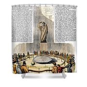 Foucaults Pendulum Shower Curtain