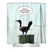Foul Fowl Shower Curtain