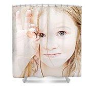Found A Seashell Shower Curtain