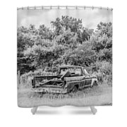 Found Off Road Dead Shower Curtain