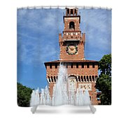 Fountain And Castle Shower Curtain