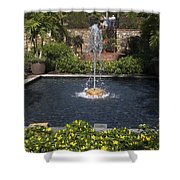 Fountain And Peppers Shower Curtain