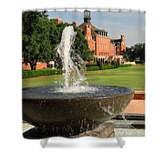 Fountain And Union Shower Curtain by Meandering Photography