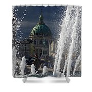 Fountain At Amalie Garden Next Shower Curtain