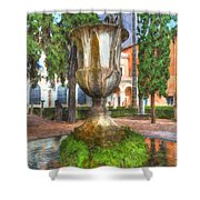 Fountain At National Roman Museum Shower Curtain