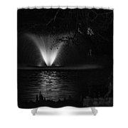 Fountain At Swan Lake Shower Curtain