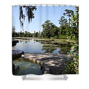 Fountain At The Swamp Shower Curtain