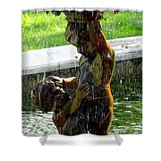 Fountain Cherubs Shower Curtain