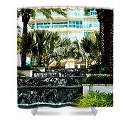 Fountain Entrance Shower Curtain