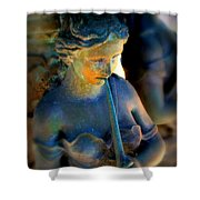 Fountain Girl Shower Curtain