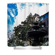 Fountain In Downtown Charleston Shower Curtain