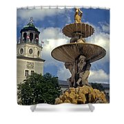 Fountain In Residenzplaz Square Shower Curtain