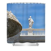 Fountain In The Piazza Shower Curtain