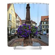 Fountain In Wertheim, Germany Shower Curtain