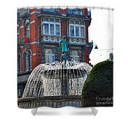Fountain Of Brussels Shower Curtain