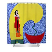 Fountain Of Creativity Shower Curtain