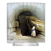 Fountain Of Siloam Valley Of Jehosophat 1842 Shower Curtain