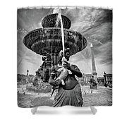 Fountain On Place De La Concorde - Paris Shower Curtain