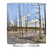 Fountain Paint Pots Lodgepole Pines - Yellowstone Shower Curtain