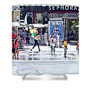 Fountain Party Shower Curtain