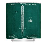 Fountain Pen Patent Drawing 1a Shower Curtain