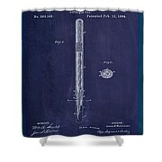 Fountain Pen Patent Drawing 1e Shower Curtain