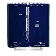 Fountain Pen Patent Drawing  Shower Curtain