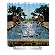 Fountain Pool Shower Curtain