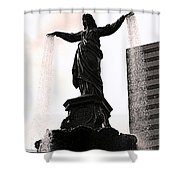 Fountain Square Lady Shower Curtain