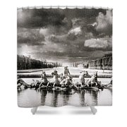 Fountain With Sea Gods At The Palace Of Versailles In Paris Shower Curtain
