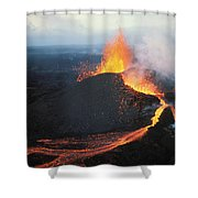 Fountaining Action Shower Curtain