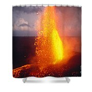 Fountaining Kilauea Shower Curtain