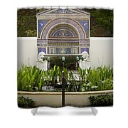 Fountains At The Getty Villa Shower Curtain