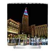 Fountains At The Tower Shower Curtain