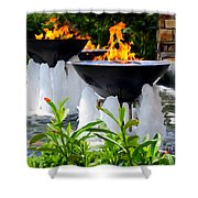 Fountains Of Fire Shower Curtain