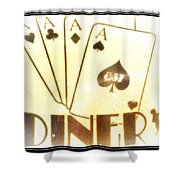 Four Aces Diner Shower Curtain