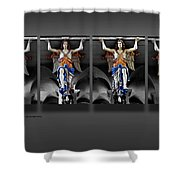 Four Angels Of The Corvey Abbey Shower Curtain