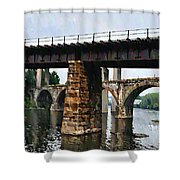 Four Bridges Of East Falls Shower Curtain