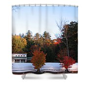 Four Bushes Shower Curtain
