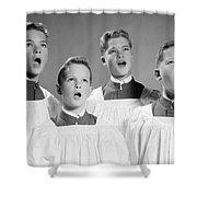 Four Choir Boys Singing, C.1950-60s Shower Curtain