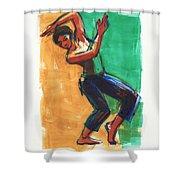 Four Colors Movement Shower Curtain