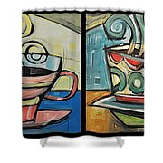Four Cups Of Java Shower Curtain