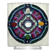 Four Directions Shower Curtain
