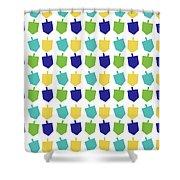 Four Dreidels Pattern- Art By Linda Woods Shower Curtain