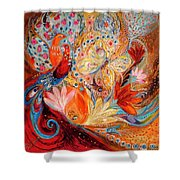 Four Elements IIi. Fire Shower Curtain