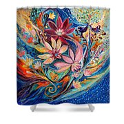 Four Elements IIi. Water Shower Curtain
