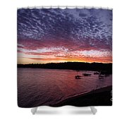 Four Elements Sunset Sequence 1 Coconuts Qld  Shower Curtain