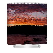 Four Elements Sunset Sequence 2 Coconuts Qld Shower Curtain