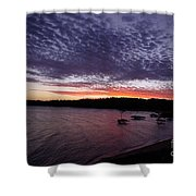 Four Elements Sunset Sequence 7 Coconuts Qld  Shower Curtain