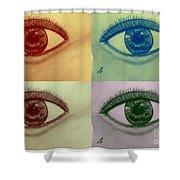 Four Eyes In Pop Art Shower Curtain
